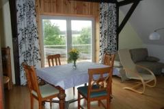 Wohnzimmer, Blick auf die Terrasse