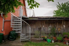 Treppenaufgang zur Wohnung  - Foto: A. Declair