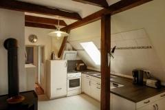 Blick in die Küche  -  Foto: A. Declair