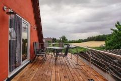 Sitzplatz auf der Dachterrasse  - Foto: A. Declair